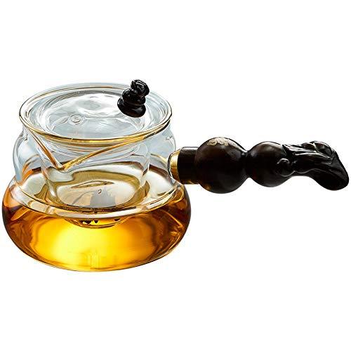 Teiera In Vetro Teiere Brocche Lato Vetro Teiera Singola Pentola Piccolo Verde Tè Mandarino Filtro Addensamento Tè Kung Fu Bollitore Resistente Al Calore 350Ml Prezzi