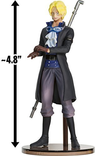 """Sabo w/ Black Jacket ~4.8"""" Figure: Super One Piece Styling - Flame of the Revolution Series (Japanese Import)"""