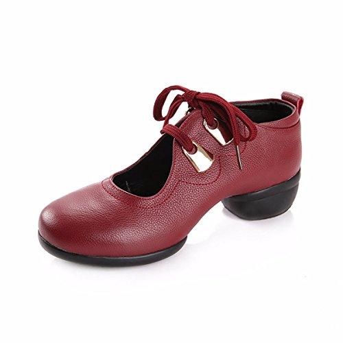 KPHY Verano Zapatos De Baile Fitness Gimnasia Mujeres Zapatos De La Danza Moderna De Fondo Suave Transpirable Jazz Zapatos De Baile. black