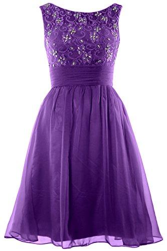 Short Bridesmaid Macloth Boat Lace Purple Dress Wedding Neck Women Beading Homecoming RwPXAPZqW1