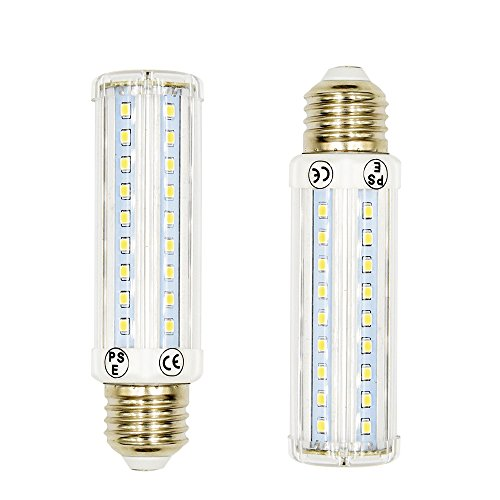 T10 LED Corn Light Luxvista 10W 3-Way Dimmable LED Tubular Bulb Medium Screw Base E26/E27 Pendant Wall Light Table Lamp 70W/30W/15W Halogen Replacement, Dayglight 6000K(2-pack) - Luminaire Incandescent Table Lamp