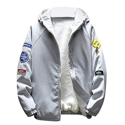 Sunhusing Autumn Winter Men Warm Thickened Zipper Hoodie Jacket Outwear Slim Baseball Uniform Coat Top