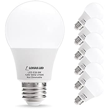 lohas a19 led bulbs 40w equivalent light bulbs 6watt e26 medium screw base led