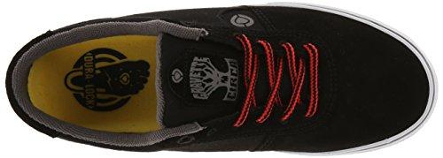 C1RCA Mens Lamb-LT Fashion Sneaker Black/Dark Gull/True Red wDZanXMQ7