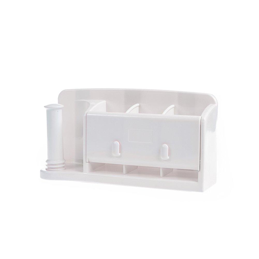 LvLoFit - Organizador de Estante de bañ o/Soporte para cepillos de Dientes, Montaje en Pared, sin taladros, extraí ble y fá cil de Limpiar extraíble y fácil de Limpiar