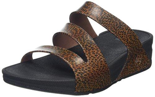 Mujer Brown Sandalias Twist Superjelly Fitflop Leopard Cheetah Multicolour q4zIIw