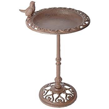 Esschert Design USA FB165 Cast Iron Standing Bird Bath