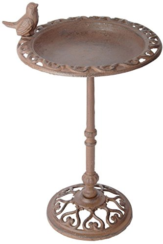 Esschert Design USA FB165 Cast Iron Standing Bird Bath