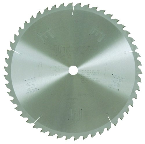 Hitachi 974651 15-Inch Tungsten Carbide Tipped ATB 1-Inch Arbor Finish Saw Blade 50-Teeth