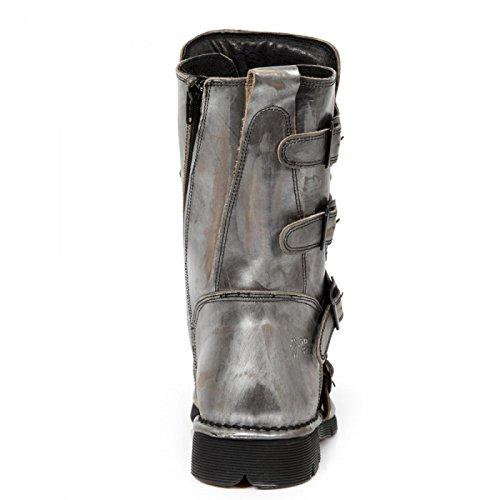 New Rock Boots M.1473-r19 Gotico Hardrock Punk Unisex Stiefel In Acciaio Colorato