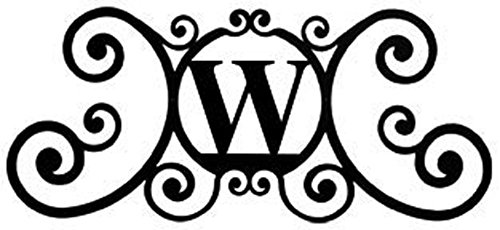 Personal Plaque - Iron House Name Plaque Letter W - 24