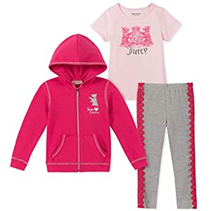 Juicy Couture Girls' 3 Pieces Jog Set