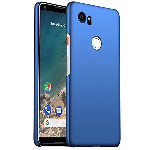 ORNARTO Google Pixel 2 XL Case,2XL[Basic Series] Thin Fit Shell Premium Hard Plastic Matte Finish Non Slip Full Protective Anti-Scratch Cover Cases for Google Pixel 2 XL(2017) Blue