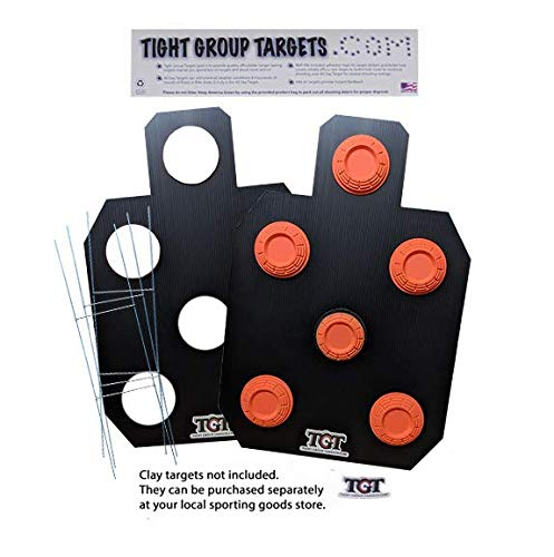 Tight Group Targets All Day Clay Target Package - 2-Pack (Black) - Limited Offering for $<!--$28.99-->