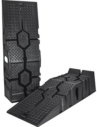 RhinoGear 11912 RhinoRamps MAX Vehicle Ramps - Set of 2 (16,000lb. GVW Capacity) ()