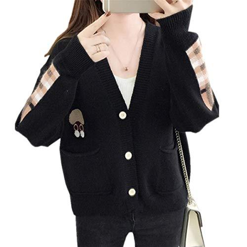SANKU レディース カーディガン ニット 長袖 ポケット付き ゆったり 厚手 秋冬 無地 アウター おしゃれ ジャケット 学生 通勤 かわいい 柔らかい ニットコート シンプル ベーシック ボレロ
