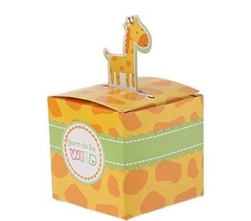Bellecita Fiesta de mascaras Jirafa Creativa Cajas de Dulces Animales Bebé Caja de Regalos para Fiestas de cumpleaños Festivales: Amazon.es: Juguetes y ...