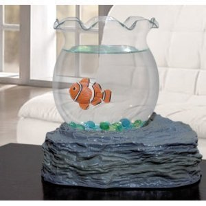 Westminster 4096 Fake Fish Bowl for Ages 8+ (Clown Fish Tank)