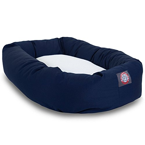 40 inch Blue & Sherpa Bagel Dog Bed By Majestic Pet Products by Majestic Pet