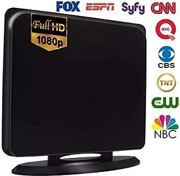 Digital TV Antenna Indoor 200 Miles Range HD 1080P Signal Booster Amplifier HDTV