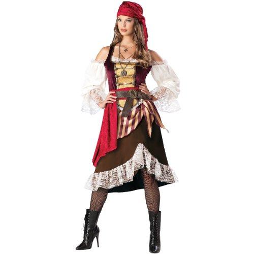 InCharacter Costumes Women's Deckhand Darlin Costume, Brown/Burgundy, (Deckhand Costume)