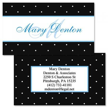Tiny Dots Double-Sided Business Cards - Set of 250 2'' x 3-1/2'' custom business card design; 80# Cover Stock, Opaque, Matte