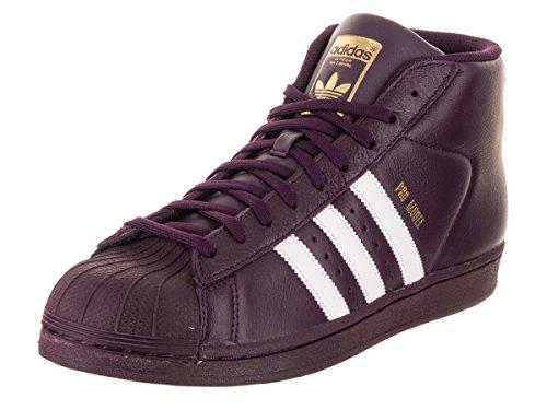 adidas Originals Pro Model Men's Shoes Rednit/FTW White/Gold ac7646 (10 D(M) US)