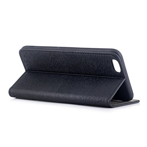 Wallet Flip Retro Series Case 6 Stand PU 6S iPhone for BONROY Card Protective Case Plus Case Elegant Case Leather Slots iPhone Plus Apple Senior Wallet and Leather black texture Cover Tree 6 Cover Function With iPhone UPnOxqdaO