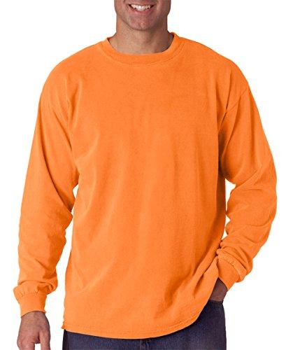 Comfort Colors Ringspun Garment-Dyed Long-Sleeve T-Shirt. C6014 Melon