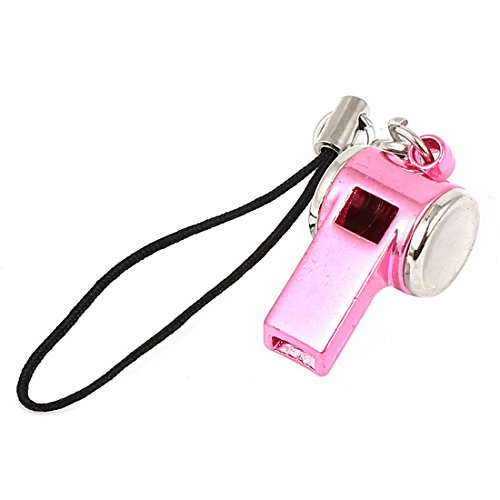 uxcell Metal Whistle Pendant Lobster Clasp Nylon String Cell Phone Strap (Whistle Clasp)