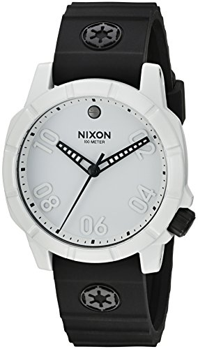 Nixon Men's 'Ranger 40 SW IP' Quartz Stainless Steel and Silicone Automatic Watch, Color:Black (Model: A468SW-2243)