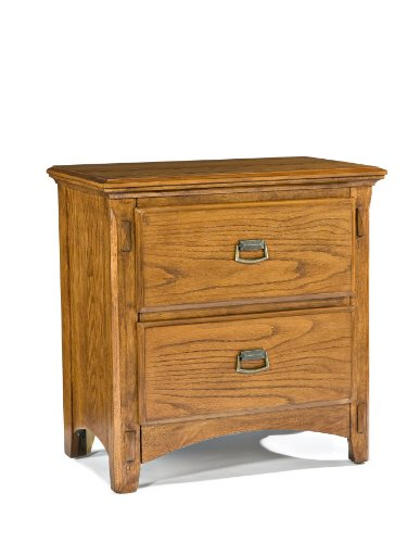 Imagio Home PR-BR-5402-MBN-C 2-Drawer Pasilla Nightstand in Mission Brown Finish - Constructed from oak veneer and select hardwood Heavy duty; full extension drawers for easy access French dovetail drawer fronts and English dovetail drawer back construction for lasting durability; Felt lined top drawers - nightstands, bedroom-furniture, bedroom - 41xRKB3O3CL -
