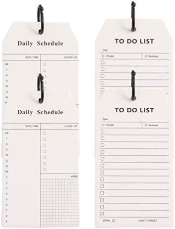 STOBOK 4 Pack om te doen lijst Kladblok Dagelijkse Schedule Planner Memo Pad met Binder Ring