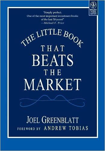 The Little Book That Beats the Market by Joel Greenblatt