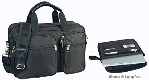 1165 Laptop - ImpecGear Expandable Laptop Computer Briefcase Messenger Bag 16.5 Inch (Black 1-16.5)