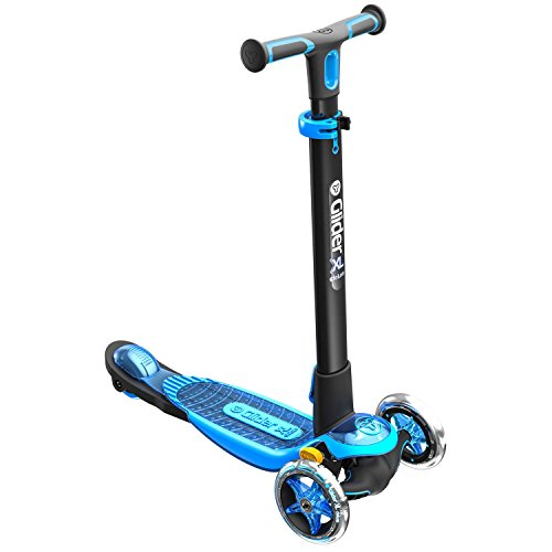 Yvolution Y Glider XL Deluxe | 3 Wheel Scooter for Kids Age 3-8 Years with Safety Brake Blue ()