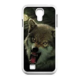 Cool PaintingFashion Cell phone case Of Wolf Howling Bumper Plastic Hard Case For Samsung Galaxy S4 i9500