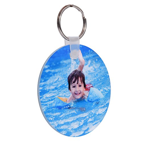 RitzPix Customizable Hard Plastic Keychain With Ring – Perfect Personalized Gift with Custom Image or Text – Choose Round or Rectangular (Homemade Halloween Gift Ideas)