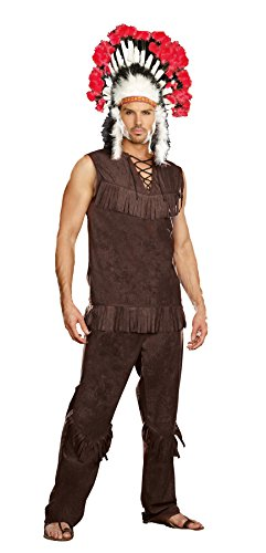Costumes Indian Couples (Chief Long Arrow Adult Costume -)