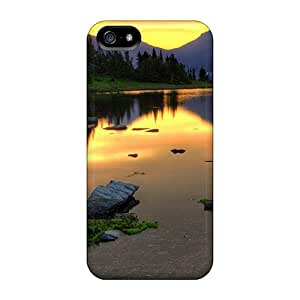 Excellent Iphone 5/5s Case Tpu Cover Back Skin Protector Gorgeous Mirror Lake