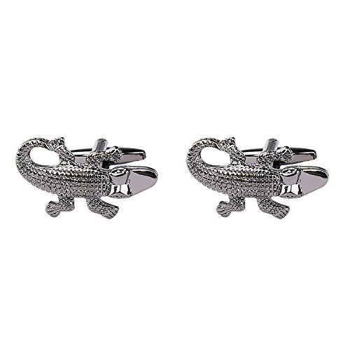 Black Patterned Men's Party Cuff Crocodile Alizeal links Dinner Animal wqC5xx0S