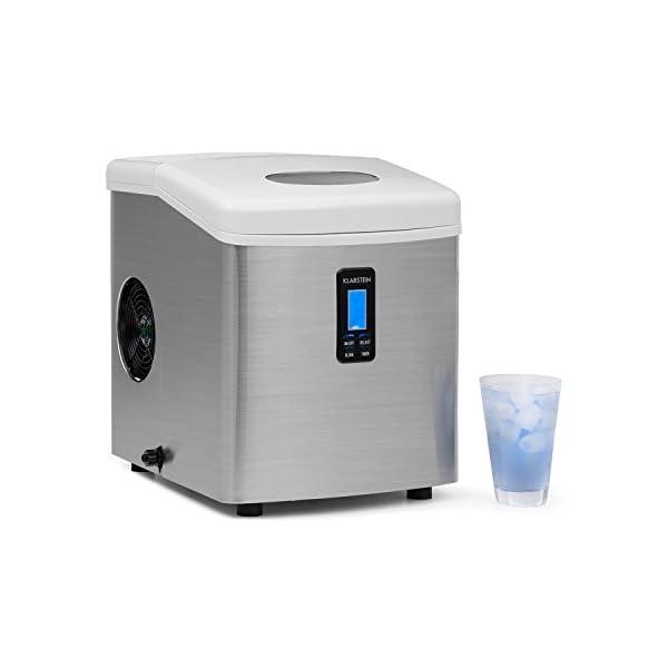 Klarstein Mr. Silver-Frost - Macchina per Cubetti di Ghiaccio, 15 kg/24 h, 150 Watt, 3 Dimensioni Cubetti, Preparazione… 1 spesavip