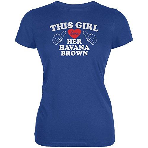 Animal World Valentines This Girl Loves Her Havana Brown Royal Juniors Soft T-Shirt - - Havana Brown Boyfriend