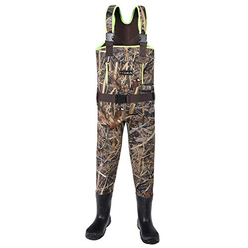 Hisea Kids Chest Waders Neoprene Fishing Waders for Toddler &