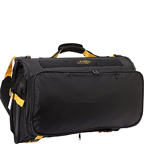 A. Saks Deluxe Expandable Tri -Fold Carry-On Garment Bag (Black) ()