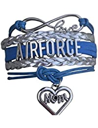 Airforce Mom Bracelet, Proud Airforce Mom Charm Bracelet - Makes Perfect Mom Gifts