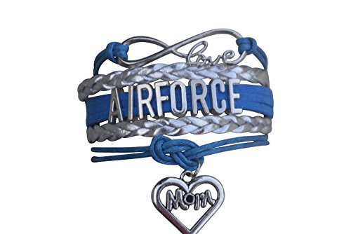 Infinity Collection Air Force Mom Bracelet, Proud Airforce Mom Charm Bracelet - Makes Perfect Mom Gifts
