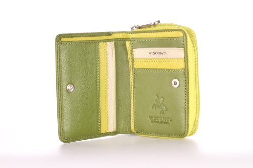 visconti-rb53-multi-colored-green-lime-cream-small-bifold-soft-leather-ladies-wallet-purse