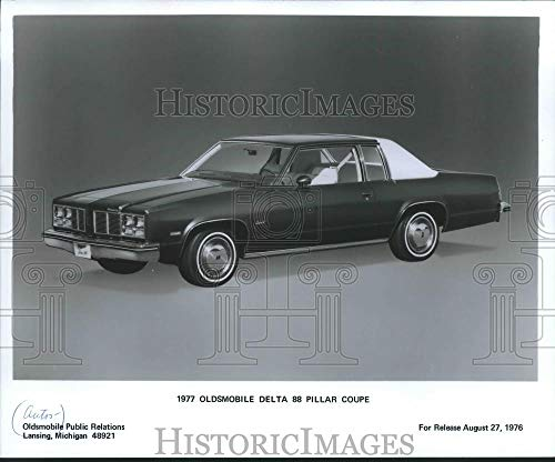 1976 Press Photo 1977 Oldsmobile Delta 88 Pillar Coupe - mjx46042 - Historic Images