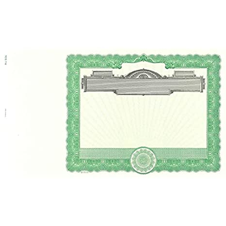 Amazon.com : Goes 506 Blank Stock Certificate Paper - Pack of 25 ...